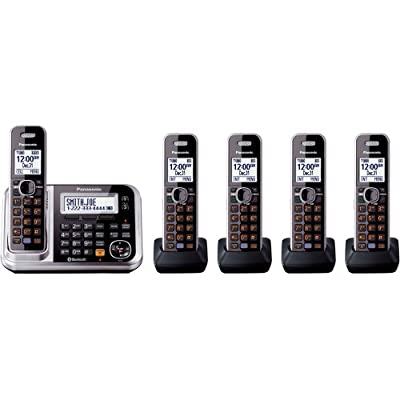Panasonic KX-TG7875S Link2Cell Bluetooth Enabled Phone with Answering Machine & 5 Cordless Handsets