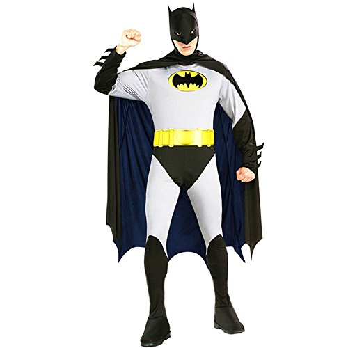 Riekinc Adult Batman 2nd Skin Zentai Super Suit Costume