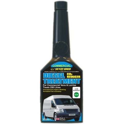 2 x SILVERHOOK CONCENTRATED CO2 REDUCER DIESEL TREATMENT FOR COMMERCIAL VANS & LORRIES 300ml - PACK OF 2 * GREAT VALUE *
