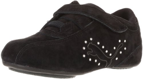 Puma Tallula Glamm NBK DMND V Sneaker (Toddler/Little Kid),Black/Puma Silver,9 M US Toddler