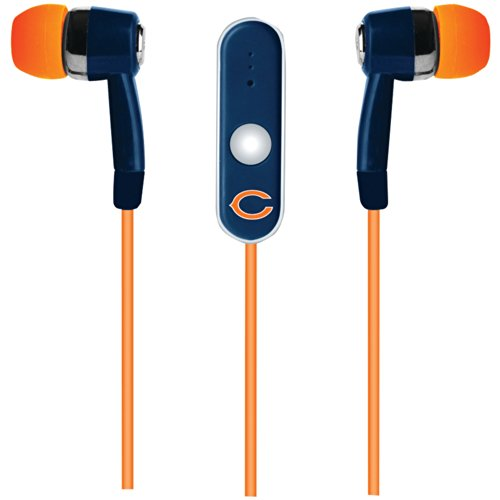 Nfl Chicago Bears Hands Free Ear Buds With Microphone