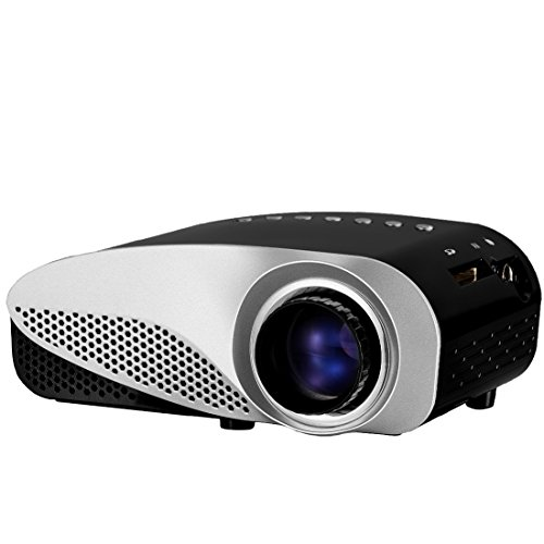 Projector syhonic s8 hd led mini portable multimedia home for Pocket sized hd projector