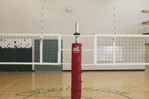 Scholastic 2 Court Volleyball System without Floor Sleeves and Covers