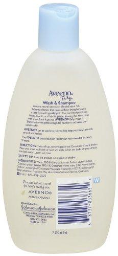 Aveeno Baby, Wash & Shampoo, 8 fl oz