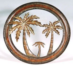 Decorative-16-Metal-Palm-Tree-Wall-Plaque