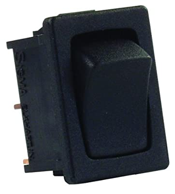 JR Products 12815 Black SPST Mini Mom-On/Off Switch