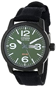 Citizen Men's BM8475-00X Eco-Drive Strap Green Dial Watch