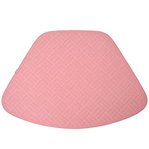 Amazon Com Set Of 2 Pink Quilted Wedge Shaped Placemats