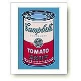 アンディ ウォーホル キャンベルスープトマト缶 ピンクと赤 アートポスター