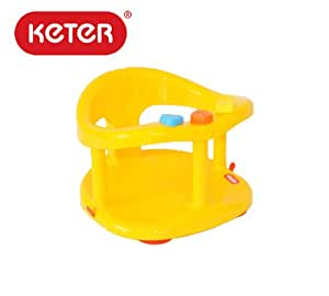 buy keter baby bath seat ring bathtub tub plastic non toxix yellow color 7 16 months max. Black Bedroom Furniture Sets. Home Design Ideas