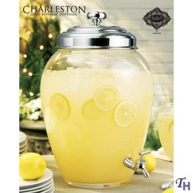 Charleston Glass Beverage Dispenser 2.5 Gallon Capacity