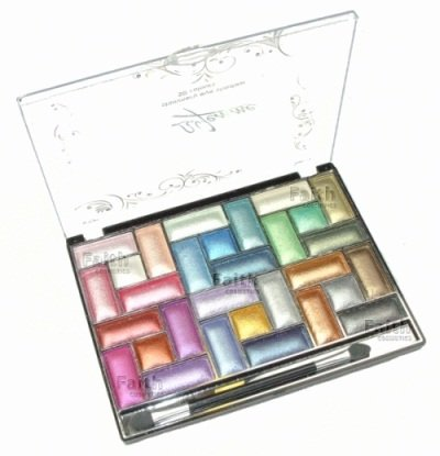 La Femme Shimmery Eyeshadow Palette 30 Colours Comes With Applicator
