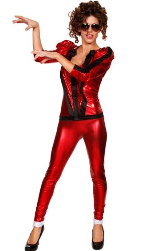 [Her Thrill Jacket Socks and Leggings Adult Women's Halloween Costume] (Mj Thriller Halloween Costume)