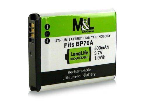 Akku / Batterie wie EA-BP70A / EA-BPP70A für Samsung Digimax AQ100 | DV150F | ES65 | ES67 | ES70 | ES71 | ES73 | ES74 | ES75 | ES78 | ES80 | ES81 | ES90 | ES91 | PL20 | PL21 | PL80 | PL81 | PL90 | PL91 | PL100 | PL101 | PL120 | PL121 | PL170 | PL171 | PL200 | PL201 | SL50 | SL600 | SL605 | SL630 | ST30 und weitere...
