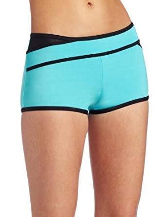 JAG Women's Swimwear Mesh Attack Boy Leg Bottom, Aqua Blue, X-Large