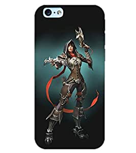 PrintDhaba FIGHTING GIRL D-6448 Back Case Cover for APPLE IPHONE 6S PLUS (Multi-Coloured)