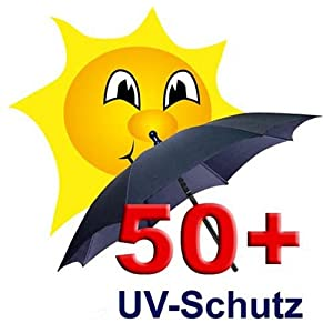 reer logo sonnenschirm mit uv schutz 50 schwarz amazon. Black Bedroom Furniture Sets. Home Design Ideas