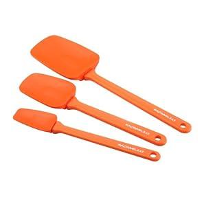 Rachael Ray Tools 3-Piece Spoonula Set, Orange