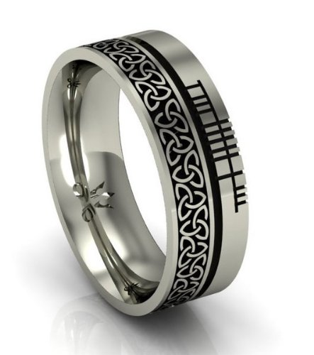 Celtic Symbol Wedding Band - Trinity Knot - .925 Silver - Size 6