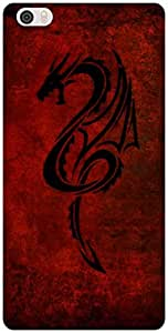 The Racoon Grip Red Dragon hard plastic printed back case / cover for Xiaomi Mi Note