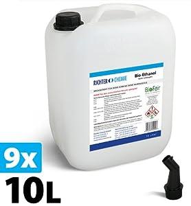 90L (9x10L) Bioethanol 100%  Markenprodukt BioFair®  geprüfte Laborqualität  GRATIS VERSAND   Kundenbewertung und weitere Informationen