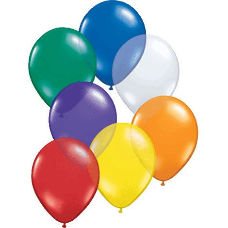 "5"" Assorted Jewel Tone Balloon (10ct) - 1"