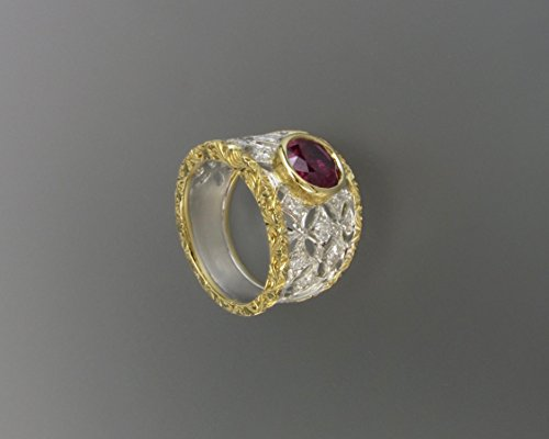 bardi-stile-buccellati-ring-in-yellow-and-white-gold-18k-with-1-central-ruby-and-additional-diamonds