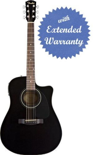 fender cd 60ce dreadnought cutaway acoustic electric guitar with gear guardian extended warranty. Black Bedroom Furniture Sets. Home Design Ideas