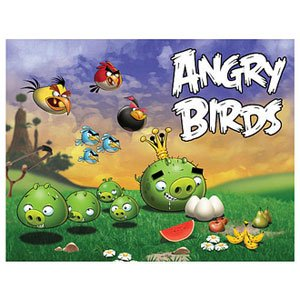Mattel Angry Birds Puzzle Scene 2 Pigs Going After Eggs - 24 Piece - 1