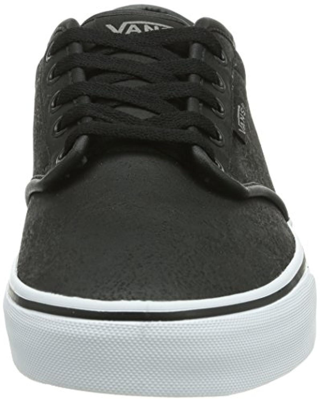 f3fd4ae63627 ... Vans Men s Atwood (Buck Leather) Black White Skate Shoe 12 Men US ...