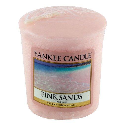 Yankee Candle Samplers Candele Votive Pink Sands, Cera, Roso, 4.5 x 4.5 x 5.3 cm