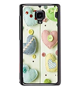 printtech Hearts Buttons Back Case Cover for Xiaomi Redmi 1S , Xiaomi Redmi (1st Gen)