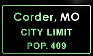 corder city t83716-g Corder city, MO City Limit Pop 409 Indoor Neon sign