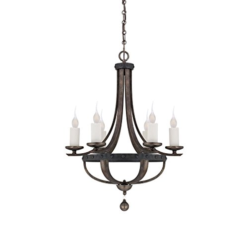 Savoy House 1-9530-6-196, Alsace 6-Light Chandelier, Reclaimed Wood (Savoy House Alsace compare prices)