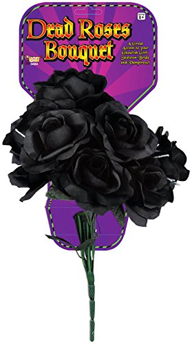 Forum Novelties Dead Rose Bouquet, Black