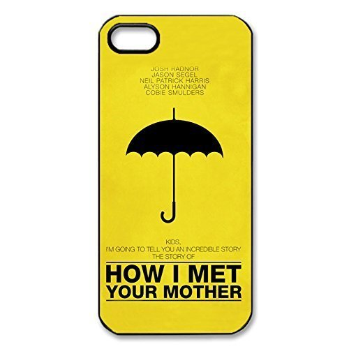 Fashion Style How I Met Your Mother Image Printed Smooth Slim & Ultra Thin Case Cover for iPhone 5s/iPhone 5 _Black 30705