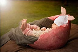 Huggalugs Baby Girls Shell Pink Lacettes Lace Legwarmers Small