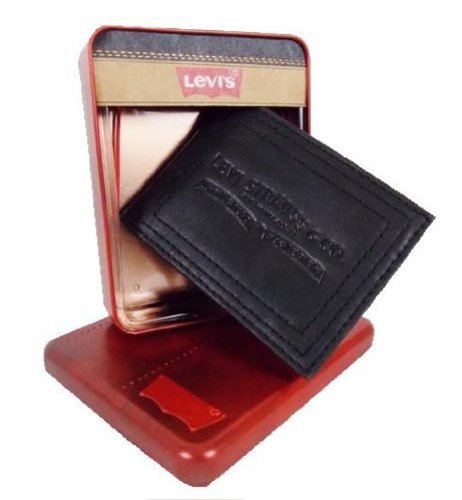 Levis-Portafoglio da uomo, in pelle, colore: nero, in confezione, modello 31LP2208