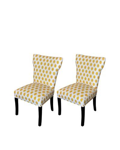 Sole Designs Bella Jojo Wingback Dining Chair, Yellow