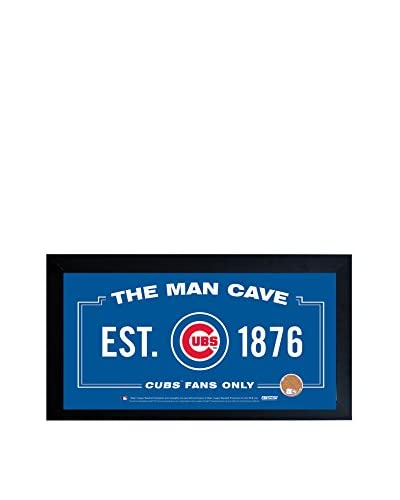 Steiner Sports Chicago Cubs Man Cave Framed Sign with Auth Game-Used Dirt