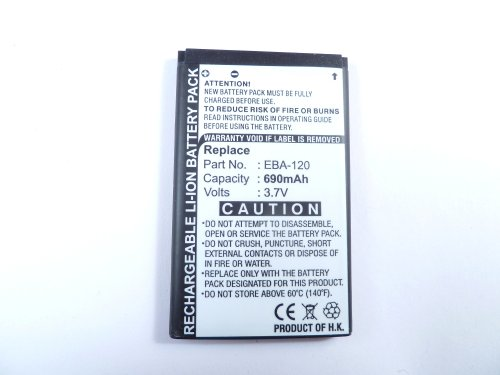 Akku für BenQ-Siemens AF51, S68 , EBA-120, V30145-K1310-X394, Li-ion, 3,7V, 600mAh