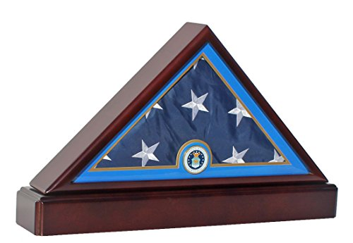 DisplayGifts U. S. Air Force Burial/Funeral/Casket Flag Display Case Storage Box (Flag Display Case Air Force compare prices)