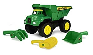"""TOMY John Deere 15"""" Big Scoop Dump Truck with Sand Tools"""