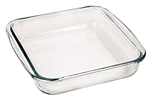 """Marinex Bakeware Square Glass Roaster with Plastic Lid, 9-5/8"""" x 8-3/4"""" x 2"""""""