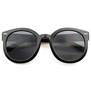 Fashion Vintage Round Thick Horn Style Sunglasses
