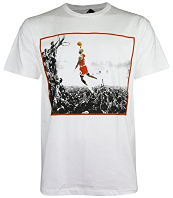 Michael Jordan NBA Super Star White T-Shirt New with Tag (DR504) (X-Large, White)