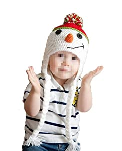E-Tribe Arrival Fashion Cute Snowman Design Soft Stretchy Baby Christmas Costume Hat Crochet Knit Boy Girl Photography Props Good Christmas Gift To Your Kids by E-Tribe