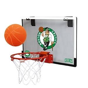 NBA Boston Celtics Game On Indoor Basketball Hoop & Ball Set