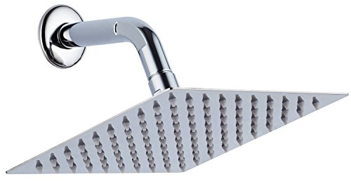 "Find Discount A-Flow™ Luxury Square Large 8"" Stainless Steel Rainfall Showerhead - Cotemporar..."