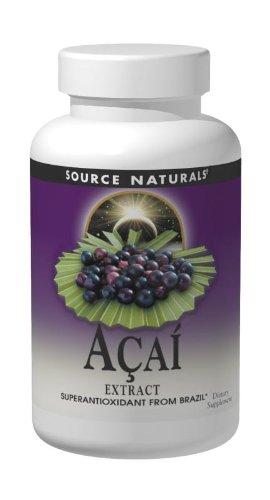 Source Naturals Açaí Extract 500mg, Superantioxidant from the  Brazilian Rainforest, 120 Capsules